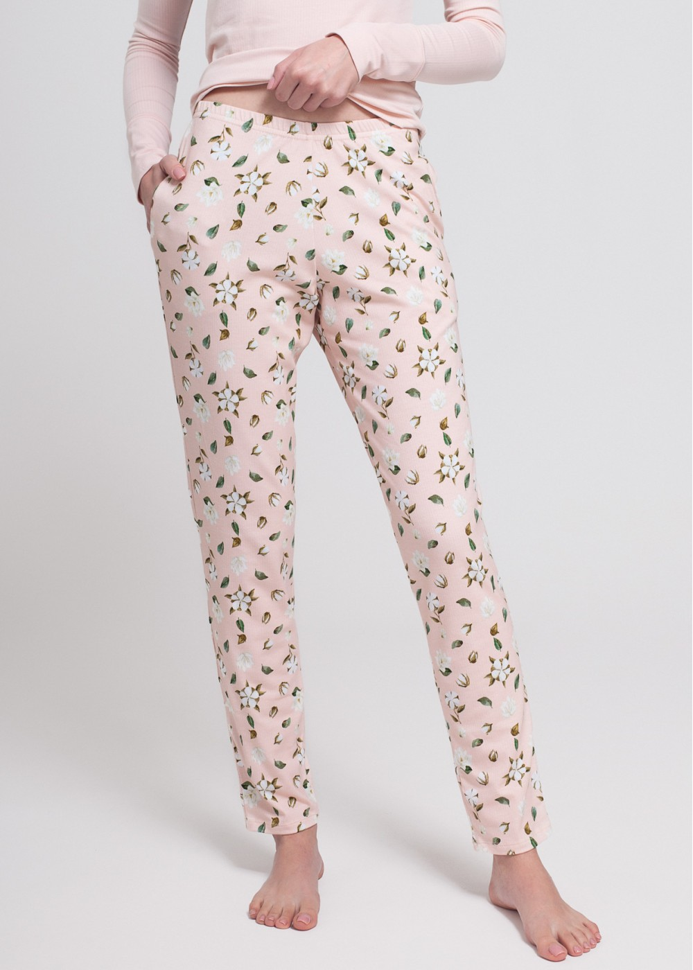 Pijama Cotton Flowers - Bumbac Organic