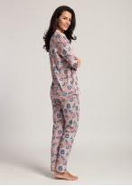 Pijama dama bambus cu nasturi Japan Fan