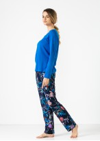 Pijama femei Frida bambus bleu