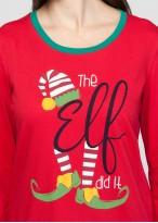 Pijama femei Craciun Elf rosu