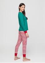 Pijama femei Craciun Elf verde