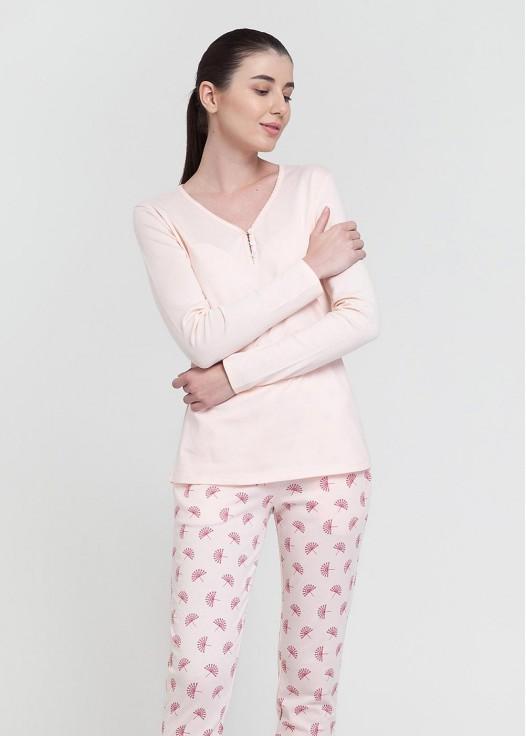 Pijama dama modal cu nasturi Peacock