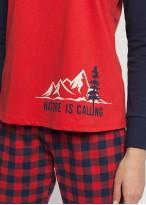 Pijama dama bumbac cu mansete Nature
