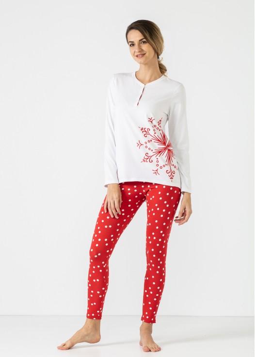 Pijama dama bumbac maneca lunga Felicity
