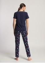 Pijama dama bumbac Grace blue