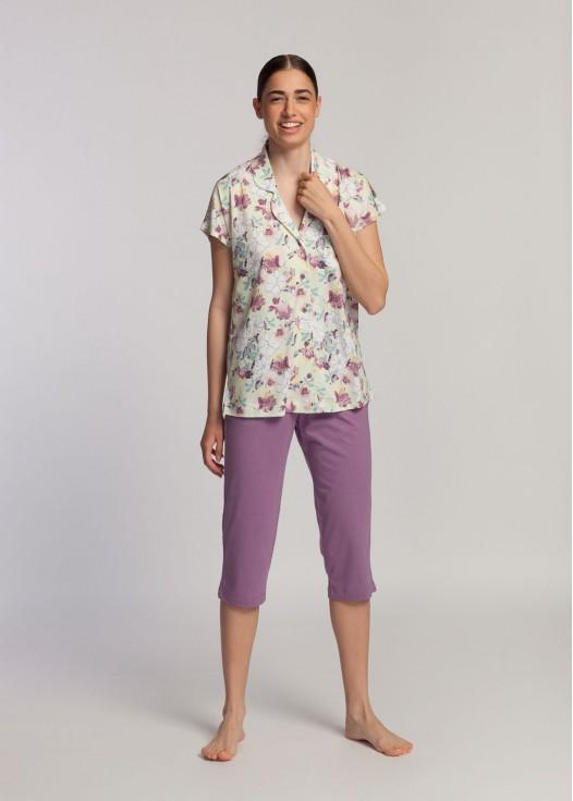 Pijama descheiata dama modal Giulia