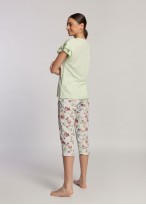 Pijama dama modal maneca scurta Giulia white jade