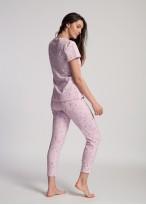 Pijama dama bumbac organic maneci scurte Blossom