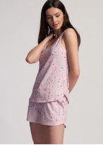 Pijama scurta dama bumbac organic Blossom