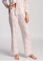 Pijama dama cu nasturi modal Clara pink