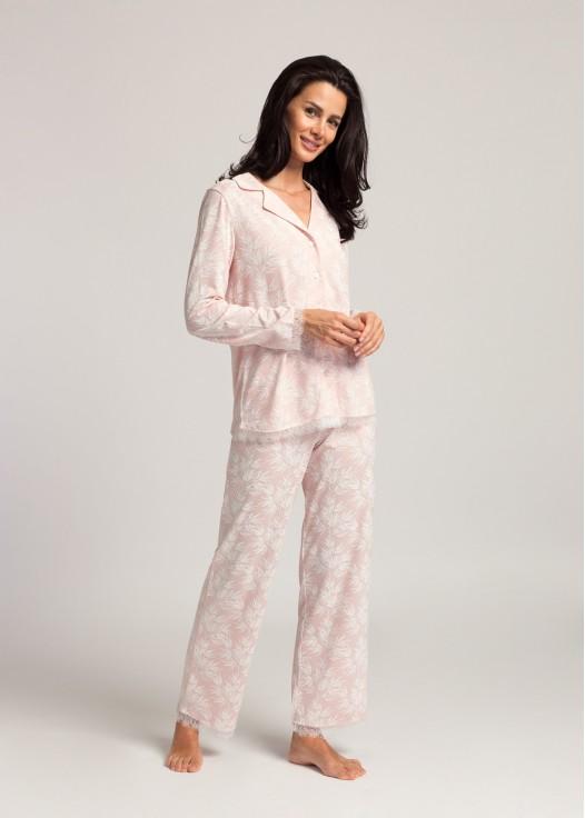Pijama dama modal descheiata maneca lunga Clara