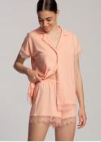 Pijama scurta dama micromodal Cozy corai