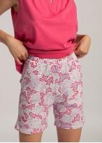 Pijama dama bumbac Gloria carmin