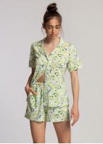 Pijama descheiata dama modal Fresh Leaves