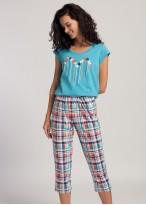 Pijama dama bumbac Glen bleu