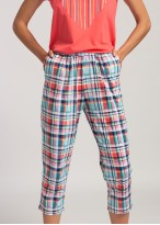 Pijama dama bumbac Glen roz