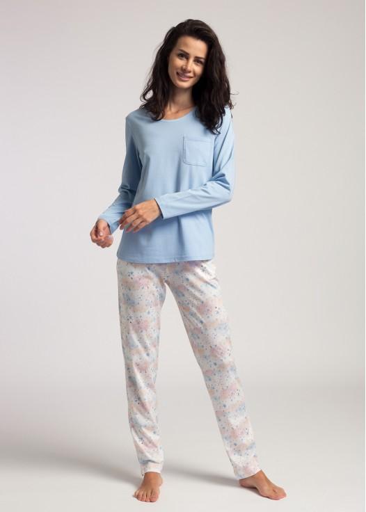 Pijama dama maneca lunga Moonsky bleu