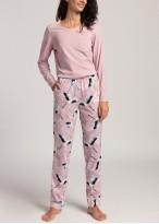 Pijama dama maneca lunga Wild Birds dawn pink
