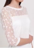 Bluză cu dantelă - Modal