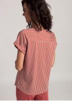 Bluza dama modal Urban Story red stripes