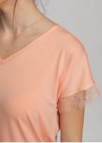 Bluza dama micromodal maneca scurta corai