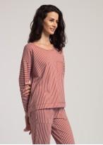 Bluza dama modal buzunar Urban Story red stripes