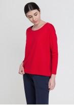Bluza dama french terry maneca lunga rosu
