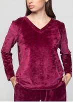 Bluza catifea dama Danielle wine