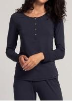 Bluza dama maneci lungi modal Soft Touch bleumarin
