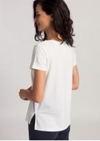 Bluza dama maneci scurte modal Soft Touch alb