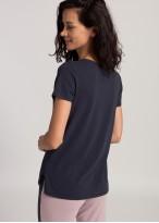 Bluza dama maneci scurte modal Soft Touch bleumarin