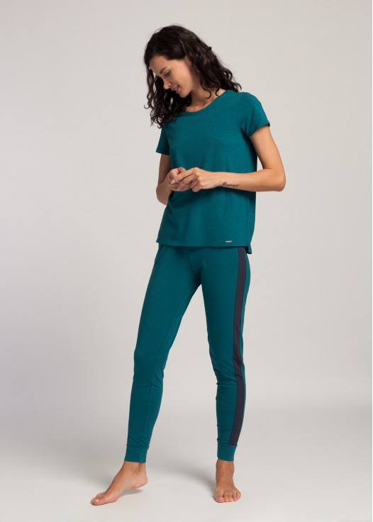Bluza dama maneci scurte modal Soft Touch verde